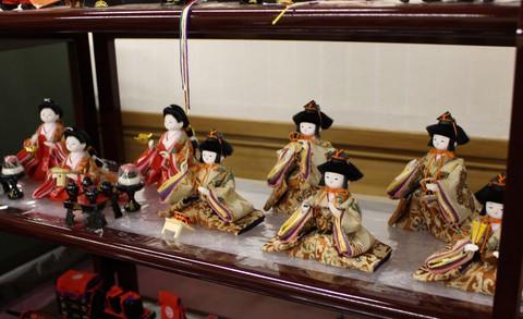 小スペースのかわいい雛人形・15人飾り ~棚式3段飾り~