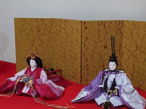 新作 有松絞 雛人形 !今年度の有松の町並みに飾られたお雛様です。