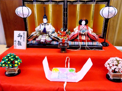 小野玉川 × あおう人形 異業の取り扱い商品をならべ、写真で紹介するコラボ企画第7弾 雛人形 × いがまんじゅう