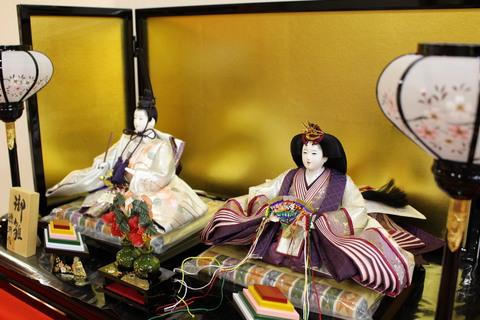 帯地雛 流水華文一品作 京金駒刺繍 雛人形