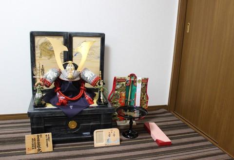 着用兜 収納飾り 西尾市お客様宅、素敵に飾れました。