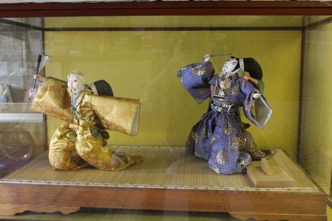 リメイク人形 忠臣蔵 松の廊下 昔の日本人形の再生修復