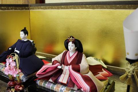 桐竹鳳凰、単色衣装のお雛様